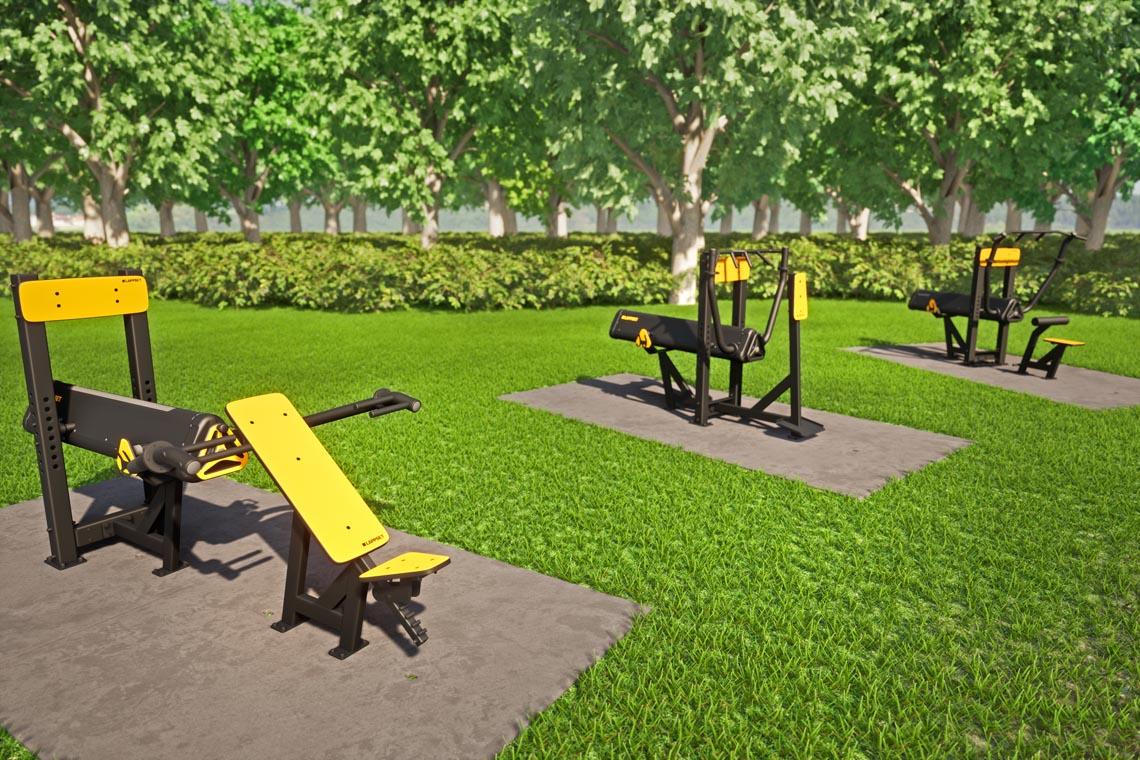 Een tijdelijke plek kan op iedere vlakke ondergrond, van grasveld tot braakliggend terrein